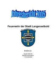 1. Inhaltsverzeichnis - Freiwillige Feuerwehr der Stadt Langenselbold