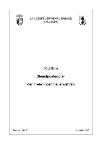 Richtlinie Dienstpostenplan der Freiwilligen Feuerwehren