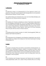 Allgemeine Geschäftsbedingungen der Ostfriesen.tv GmbH