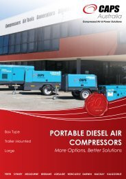PORTABLE DIESEL AIR COMPRESSORS - Ferret