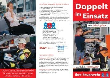 Doppelt im Einsatz - Landesfeuerwehrverband Bayern