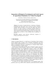 Integration of Biological, Psychological, and Social Aspects in Agent ...