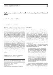 Exploratory Analysis of an On-line Evolutionary Algorithm in ...