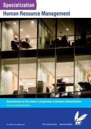 Specialization Human Resource Management - Feweb