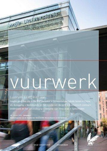 Oktober - Feweb - Vrije Universiteit Amsterdam