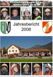Jahresbericht 2008 - Freiwillige Feuerwehr Micheldorf in OÖ