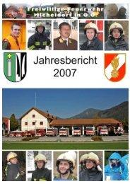 Jahresbericht 2007 - Freiwillige Feuerwehr Micheldorf in OÖ