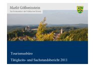 Tätigkeits- und Sachstandsbericht 2011 - Ferienzentrum Gößweinstein