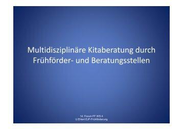 Multidisziplinäre Kitaberatung durch Frühförder- und Beratungsstellen