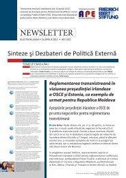 Sinteze şi Dezbateri de Politică Externă - FES Office in the Republic ...