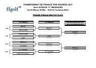 championnat de france par equipes 2011 phase finale match play
