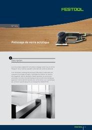 Polissage de verre acrylique - Festool