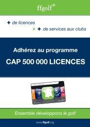 Le programme CAP 500 000 LICENCES
