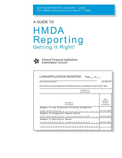 2015 hmda reporting guide community bankers of iowa   des moines, ia.