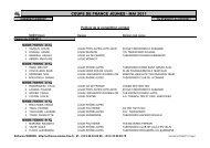 Coupe de France Benjamins- Minimes 21-22/05/2011 - fftda