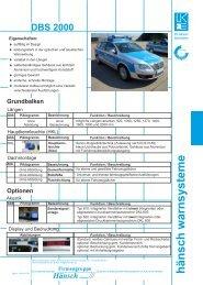 Produktinformation DBS 2000 / DBS 3000