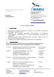 A r b e i t s p l a n  2008 - NABU-Fachgruppe Ornithologie ...
