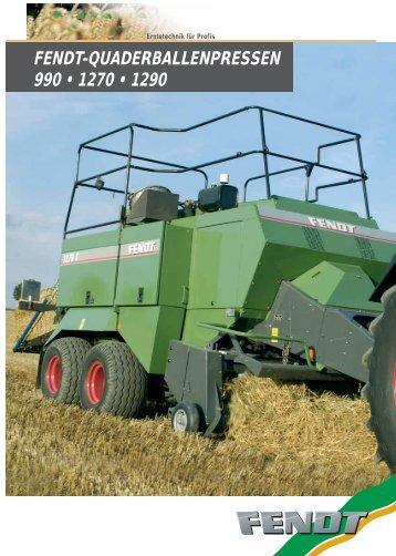 FENDT-QUADERBALLENPRESSEN 990 • 1270 ... - Fendt LK Tech