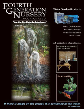 Your One Stop Water Gardening Source - Fourth Generation Nursery