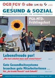 Ausgabe 2/2009 - Arge FGV für Gesundheits- und Sozial Berufe