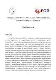 Carta Constitutiva. - Fundação Guimarães Rosa
