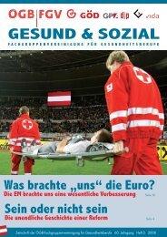 Ausgabe 2/2008 - Arge FGV für Gesundheits- und Sozial Berufe
