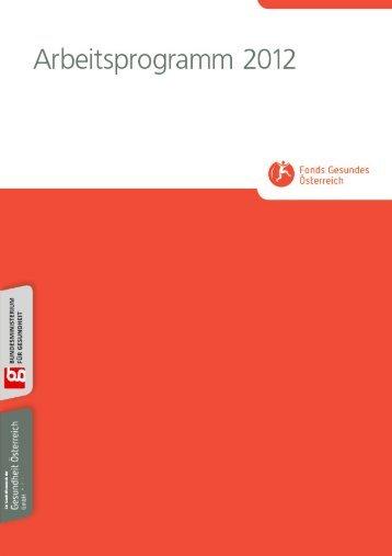 Arbeitsprogramm 2012 - Fonds Gesundes Österreich