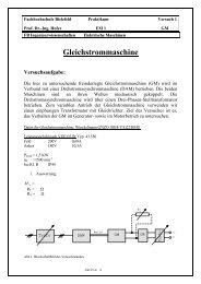 Gleichstrommaschine - Fachhochschule Bielefeld