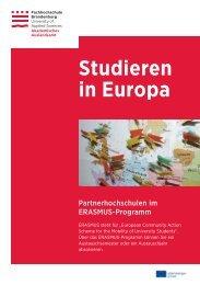 Studieren in Europa - Fachhochschule Brandenburg