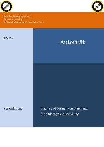 Autorität - Fachhochschule Kiel