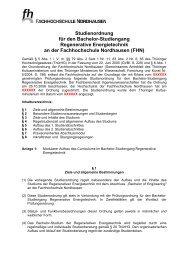 Studienordnung für den Bachelor-Studiengang Regenerative ...