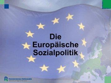 Die Europäische Sozialpolitik - Fachhochschule Nordhausen