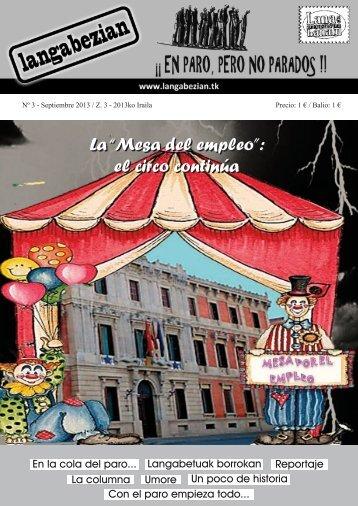 """La """"Mesa del empleo"""": el circo continúa"""
