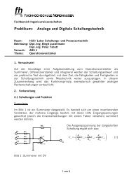 Praktikum: Analoge und Digitale Schaltungstechnik