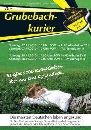 Grubebachkurier Nr. 182 - FC Westerloh-Lippling