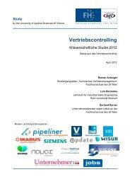 Studie Vertriebscontrolling - Fachhochschule des bfi Wien