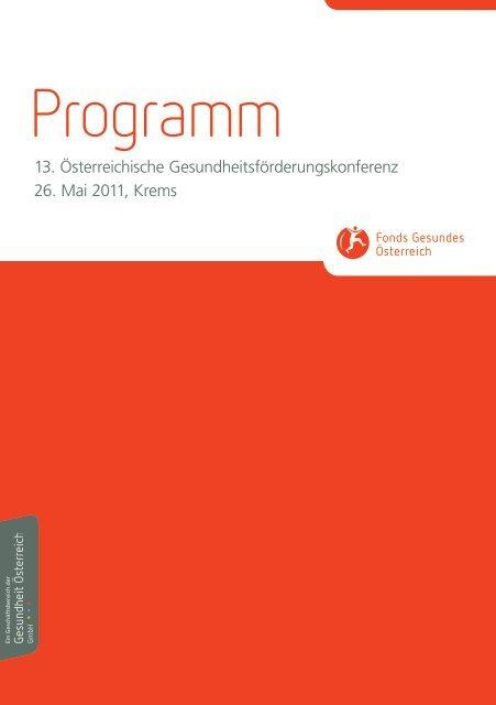 Programmfolder - Fonds Gesundes Österreich