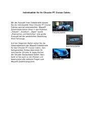 Individualität für Ihren Chrysler Crossfire - Autohaus Bohnes