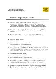 """Teilnahmebedingungen """"Blende 2011"""" - Schwäbische Post"""