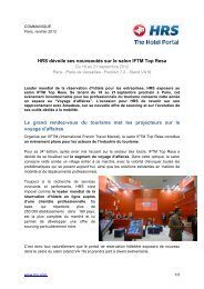 HRS salon IFTM Top Resa 2012 - fhcom