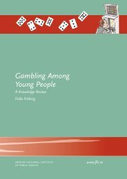 Gambling Among Young People, 837 kB