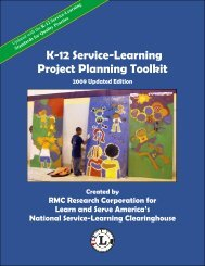 K-12 Service-Learning Project Planning Toolkit - National FFA ...
