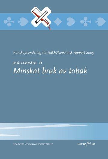 Kunskapsunderlag 11 till folkhälsopolitisk rapport 2005, 206 kB
