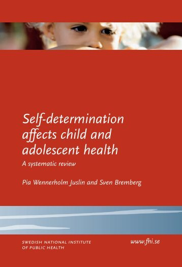 Self-determination affects child and adolescent health, 277 kB