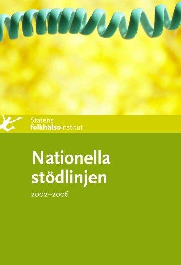 Nationella stödlinjen 2002-2006, 1.03 MB - Statens folkhälsoinstitut