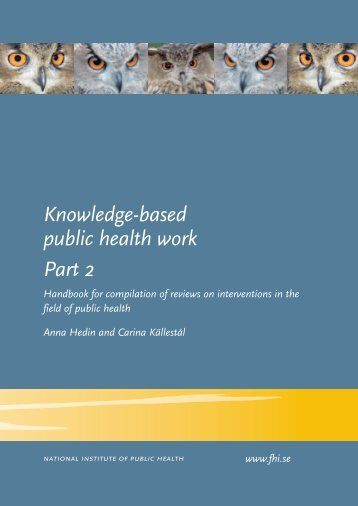 Knowledge-based public health work Part 2