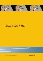 Årsredovisning 2004, 658 kB - Statens folkhälsoinstitut