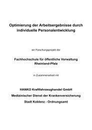 Projektkonzeption - Fachhochschule für öffentliche Verwaltung