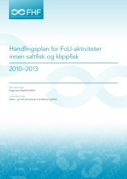 Handlingsplan for FoU-aktiviteter innen saltfisk og klippfisk ... - FHL