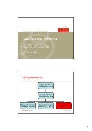 Hygienepakken - innledning - FHL